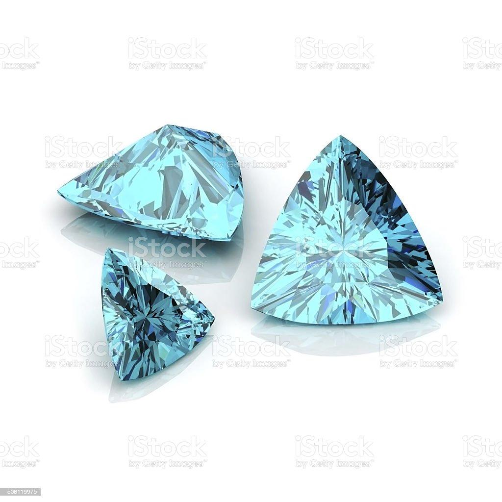 Light Blue sapphire stock photo