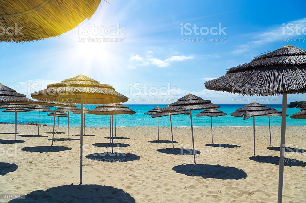 Light blue sky and sea stock photo
