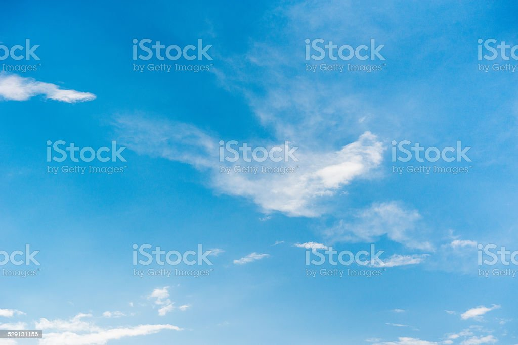 Light Blue Sky. - Stock Image stock photo