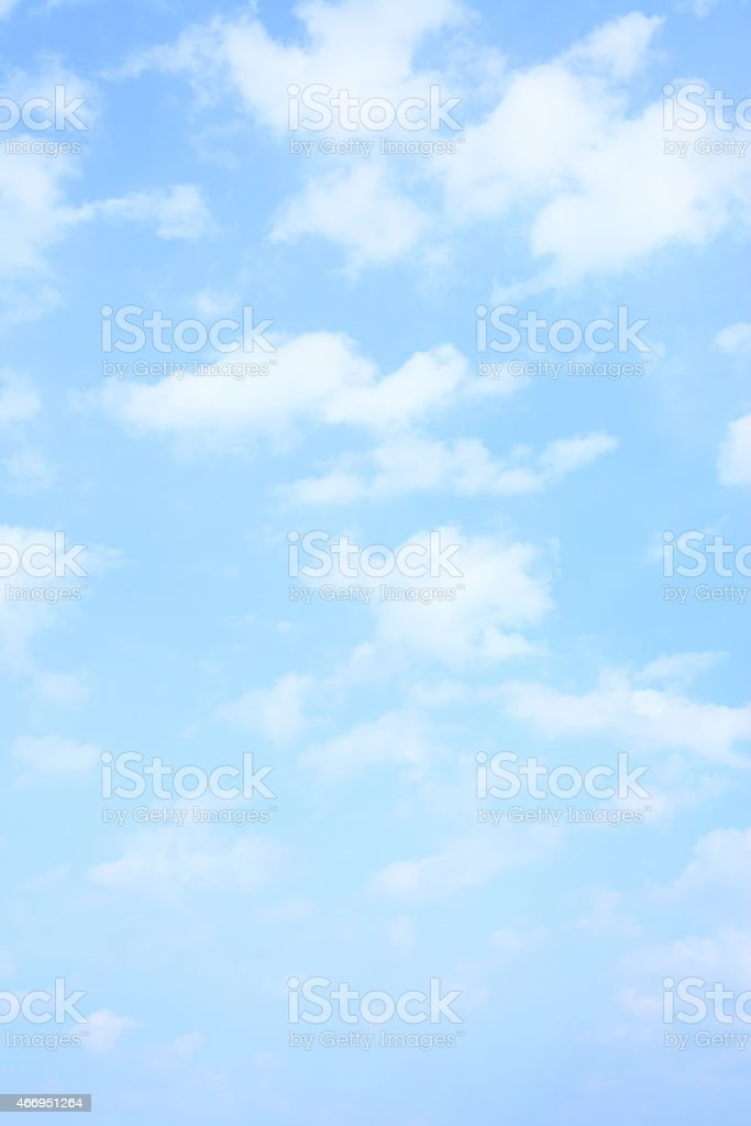 Light blue spring sky stock photo
