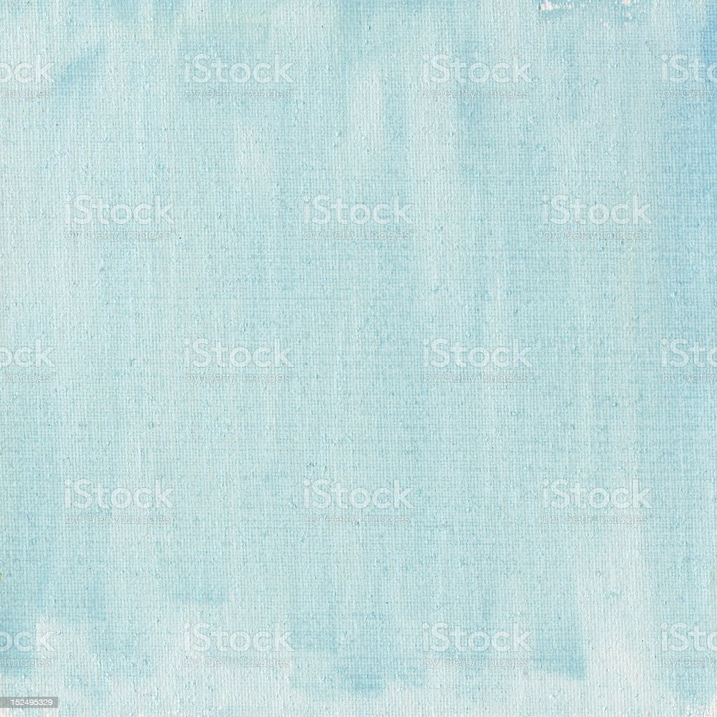 light blue watercolor abstract with canvas texture stock photo