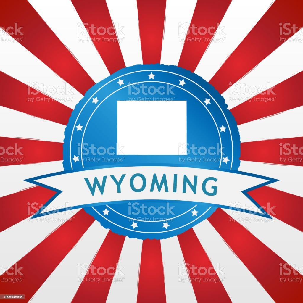Light blue Wyoming badge stock photo