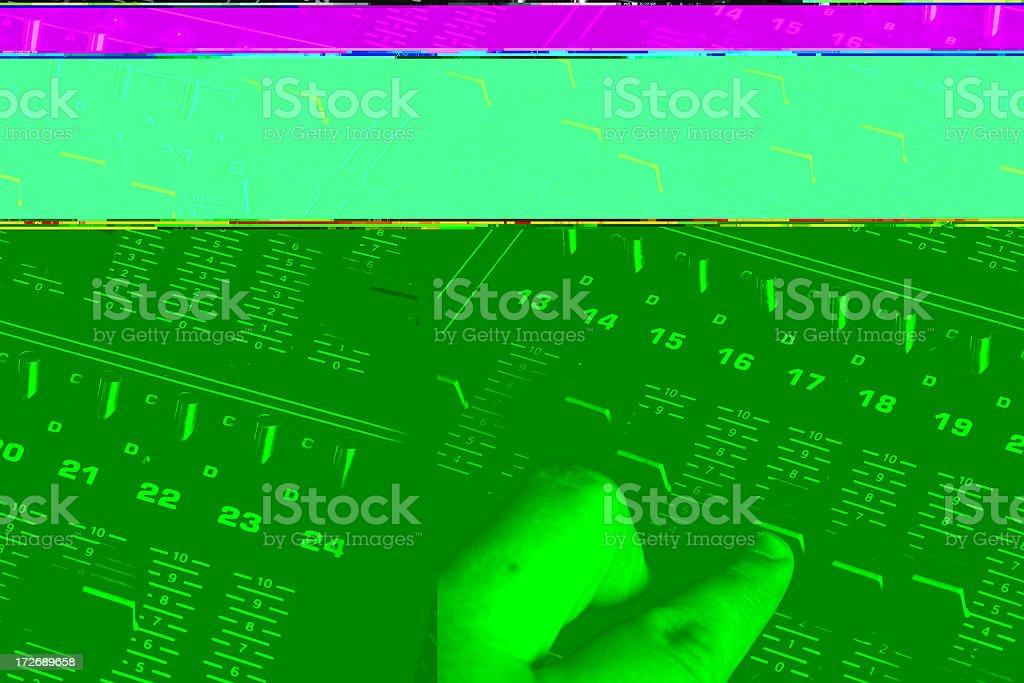 Light Board Controls royalty-free stock photo