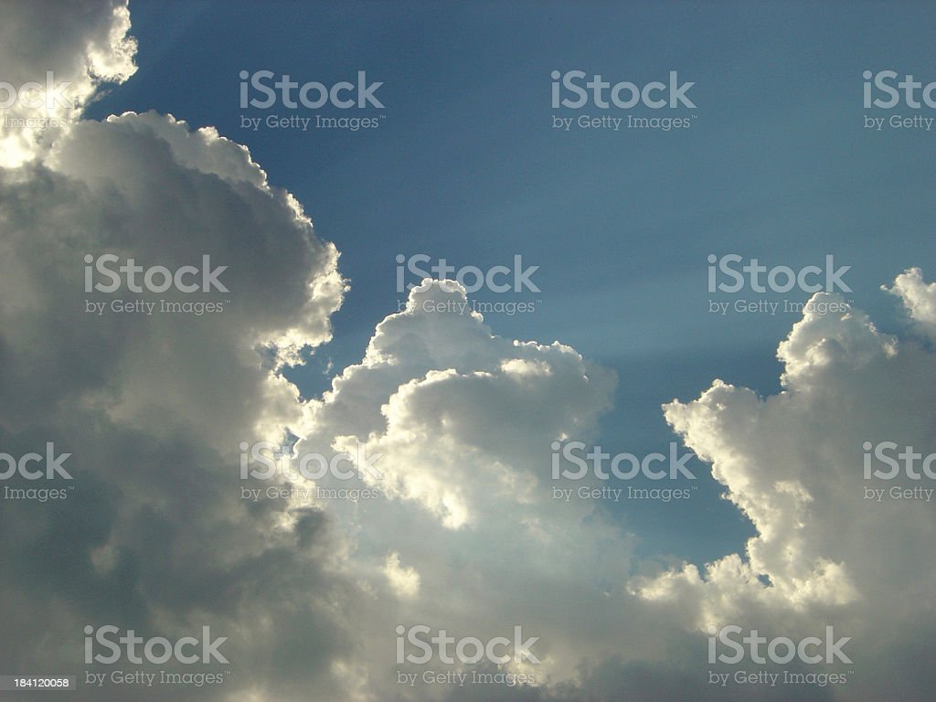Light breaks through the clouds royalty-free stock photo