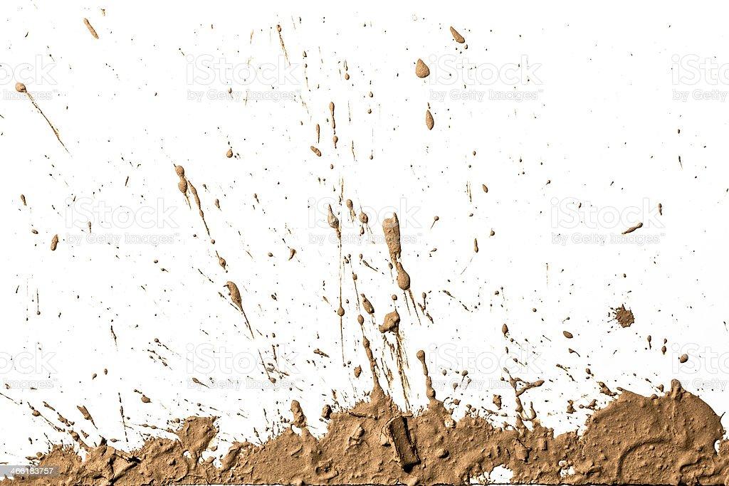 Light brown clay artistically sprayed up stock photo