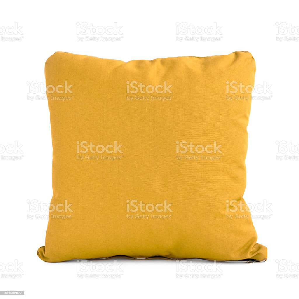 Light brown cushion isolated on white background stock photo