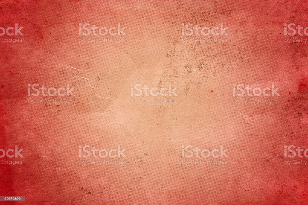 Light brown distressed paper with halftone marks stock photo