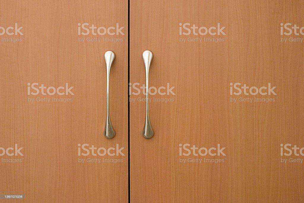 light brown doors royalty-free stock photo