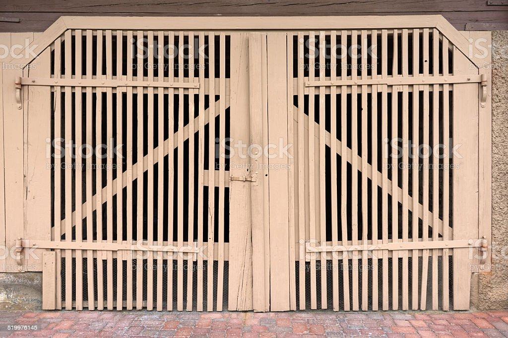 Light brown gate royalty-free stock photo