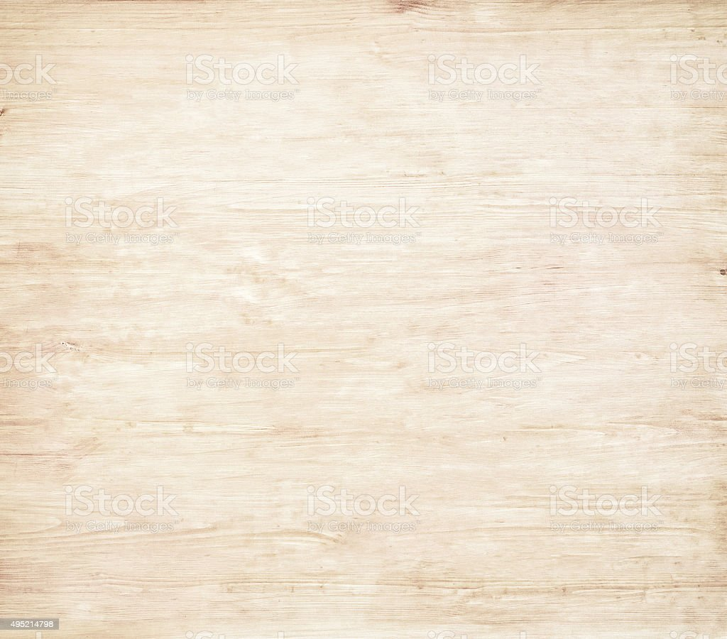 Light brown wooden cutting board, plank Wood texture stock photo