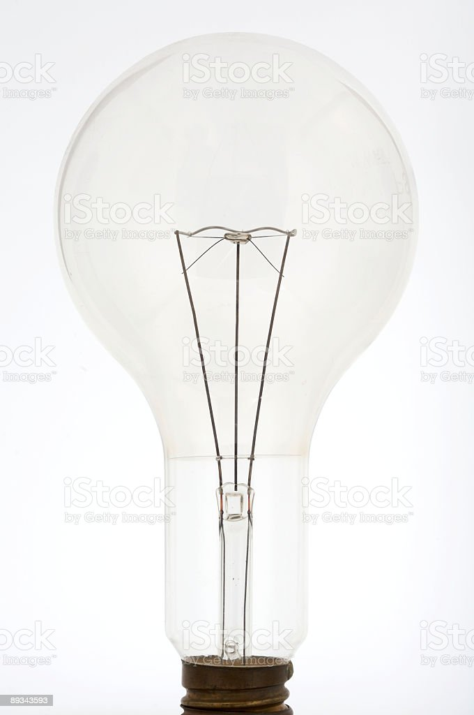 Light bulb 2 stock photo