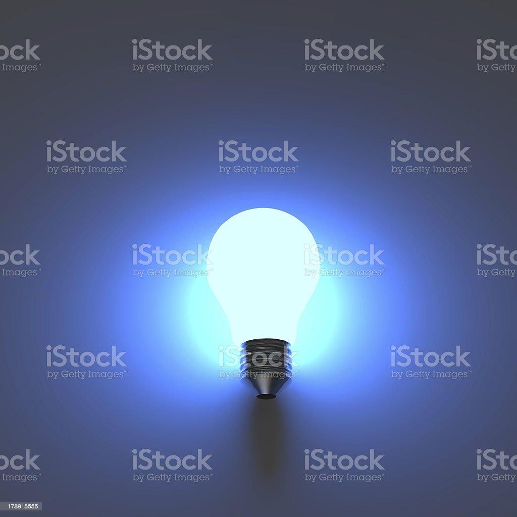 light bulb 3d royalty-free stock photo