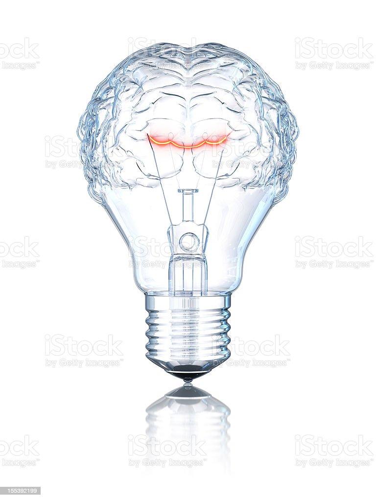 Light Bulb Brain stock photo