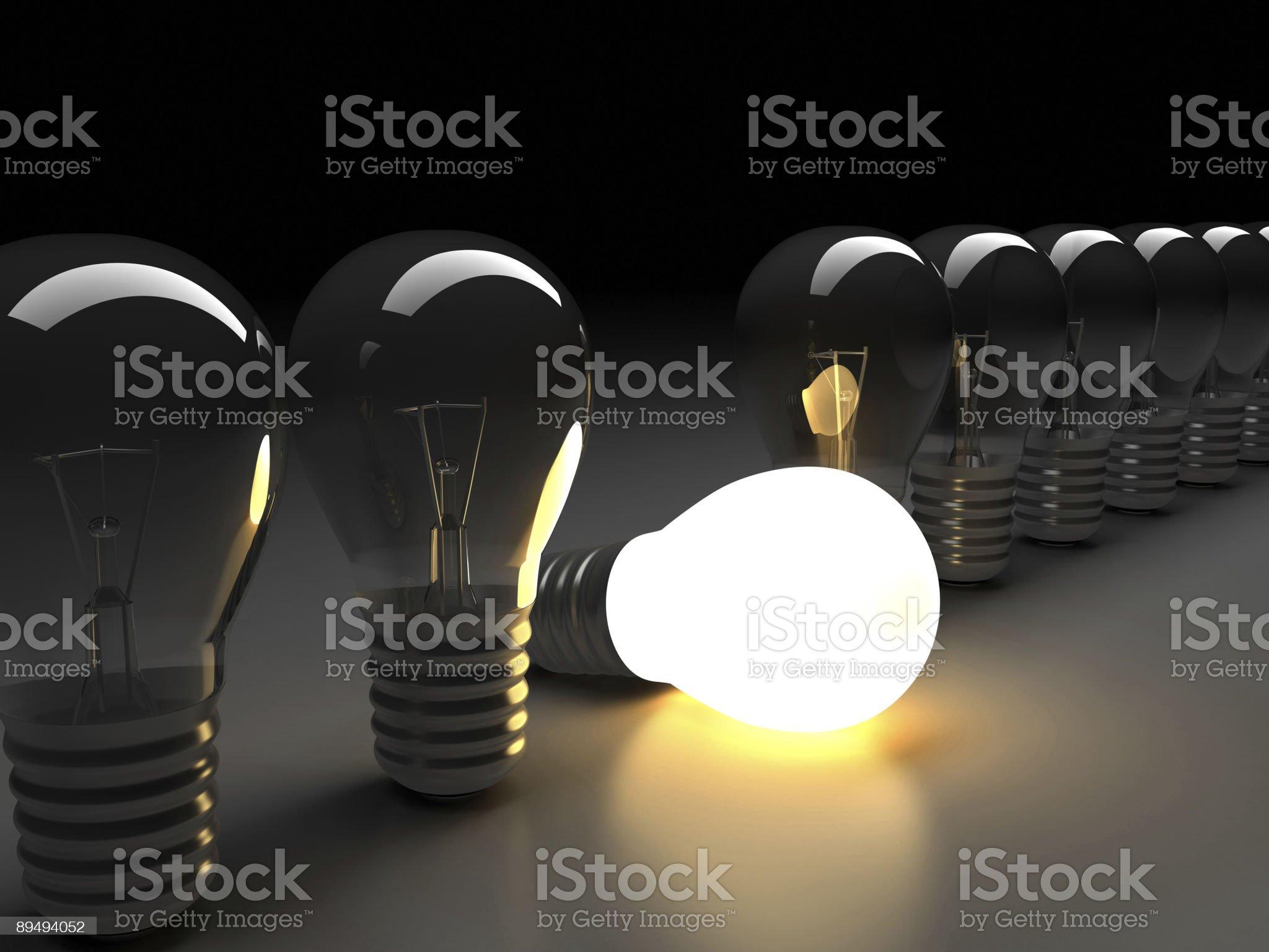 Light bulb clipart royalty-free stock photo