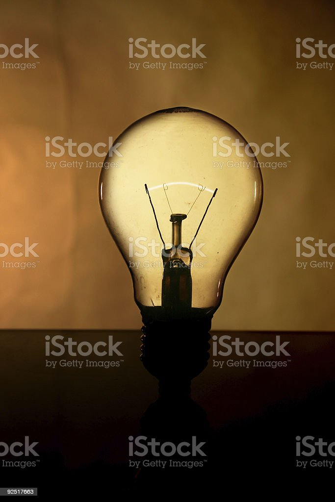 Light Bulb - Close Up royalty-free stock photo