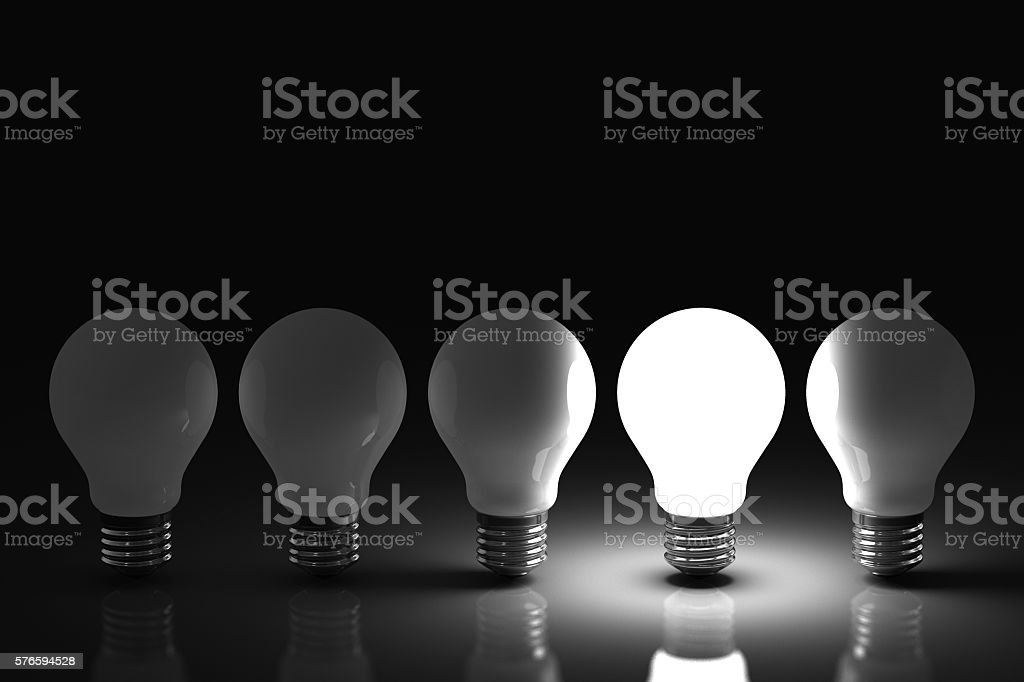 Light Bulb Concept stock photo