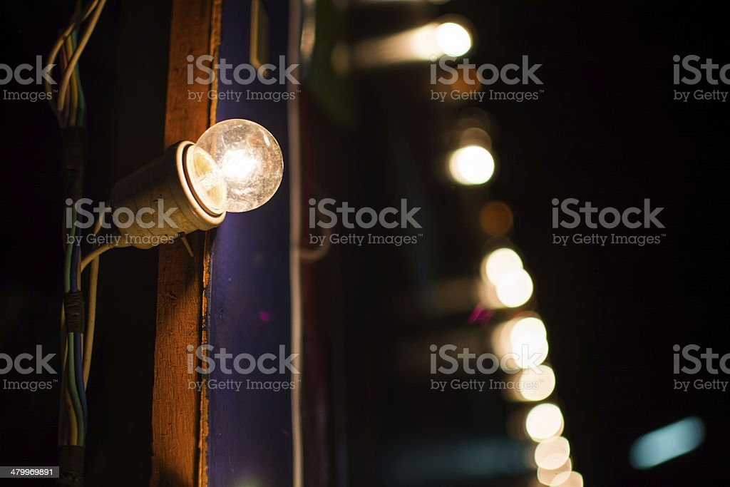 Light bulb decorate on the backdrop royalty-free stock photo
