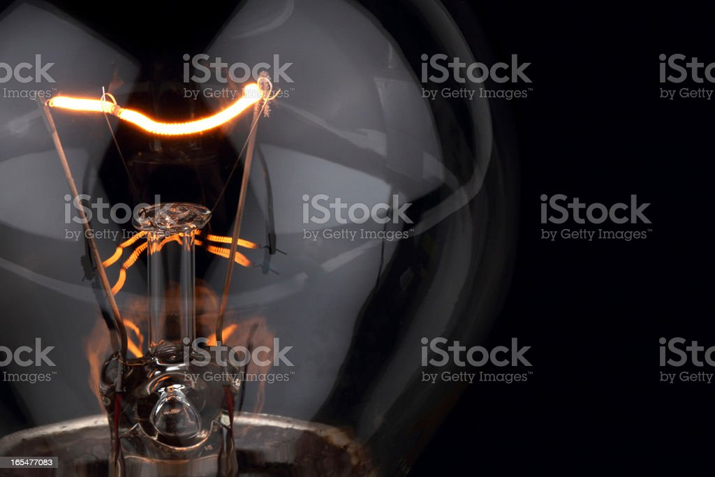 Light Bulb filament royalty-free stock photo