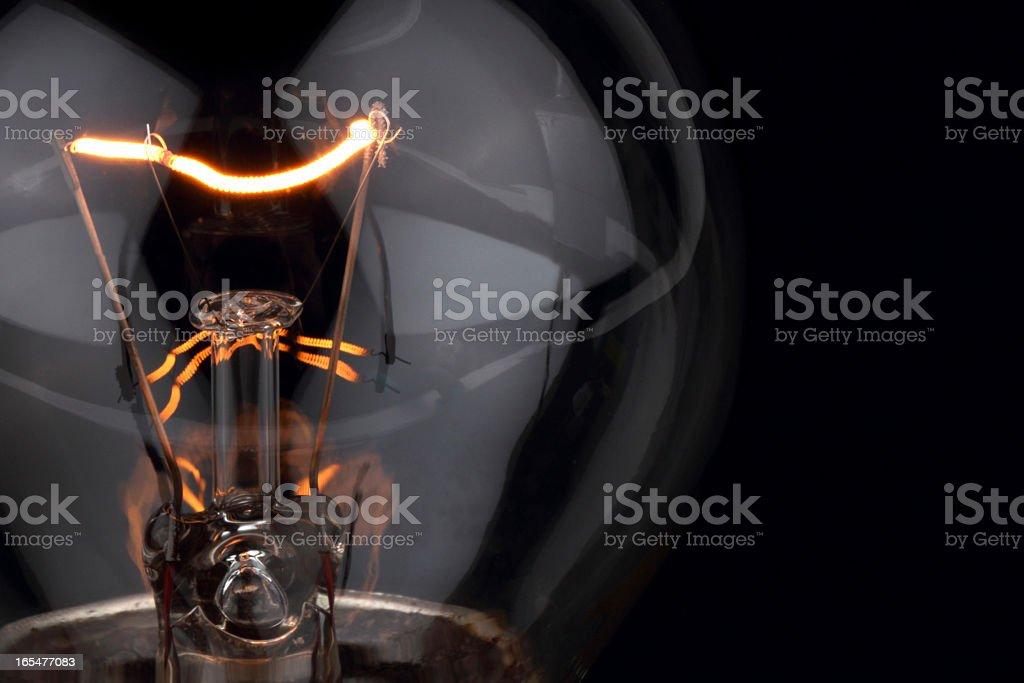 Light Bulb filament stock photo