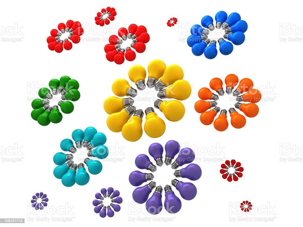 light bulb flowers royalty-free stock photo