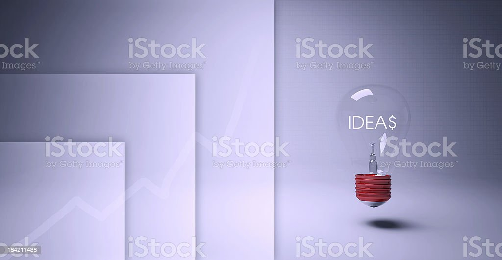 Light bulb for business royalty-free stock photo