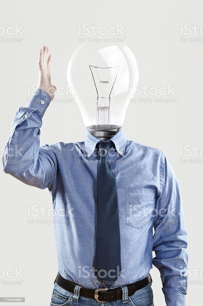 light bulb head royalty-free stock photo
