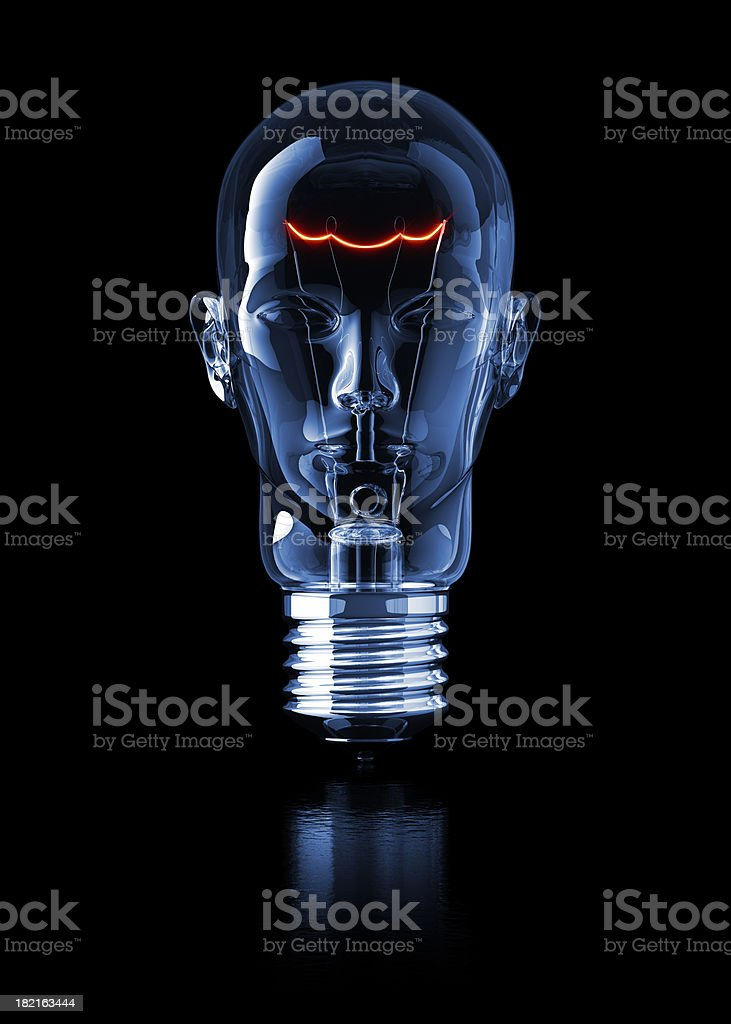 Light Bulb Head stock photo