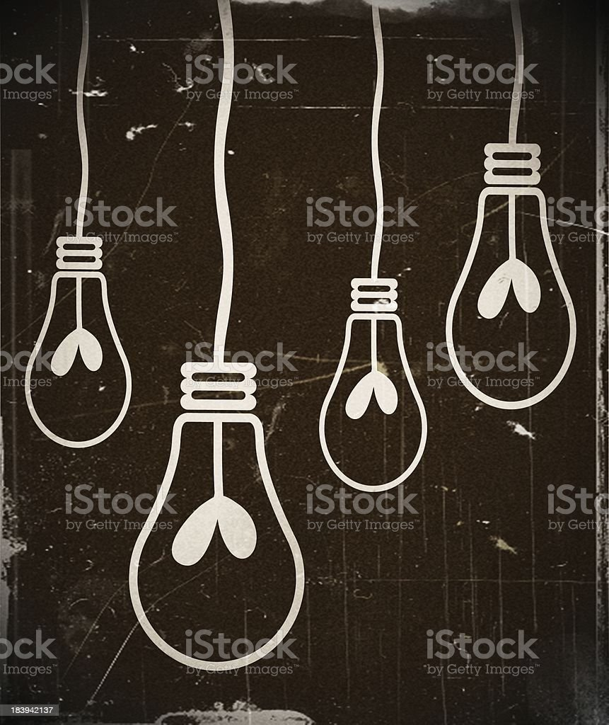 Light bulb idea in illustration royalty-free stock photo
