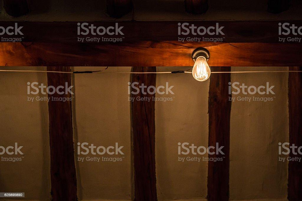 light bulb in a Korean house stock photo