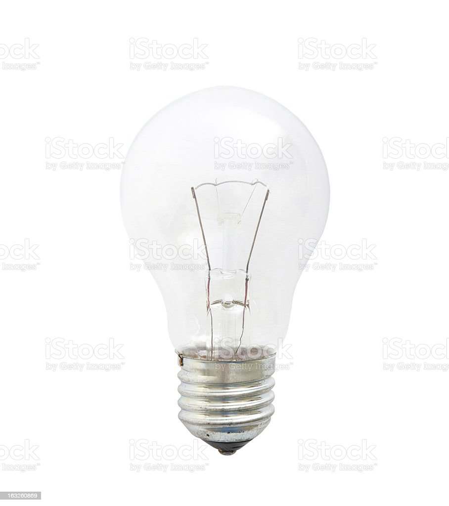 Light bulb isolated on a white background royalty-free stock photo