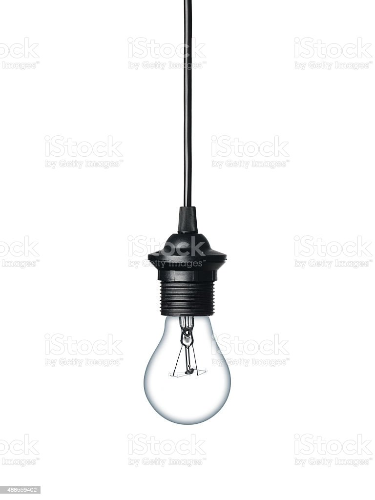 Light bulb isolated on white stock photo