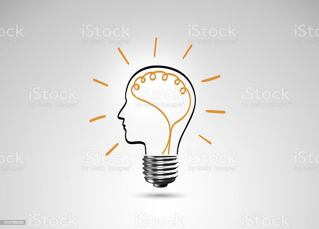Light bulb metaphor for good idea stock photo
