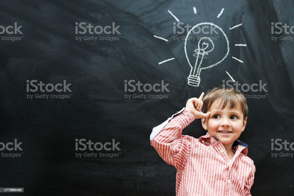 Light bulb moment! royalty-free stock photo