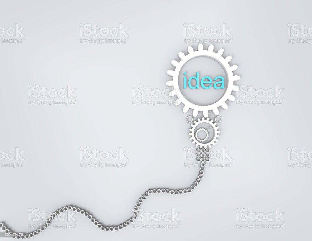 Light bulb of idea concept stock photo