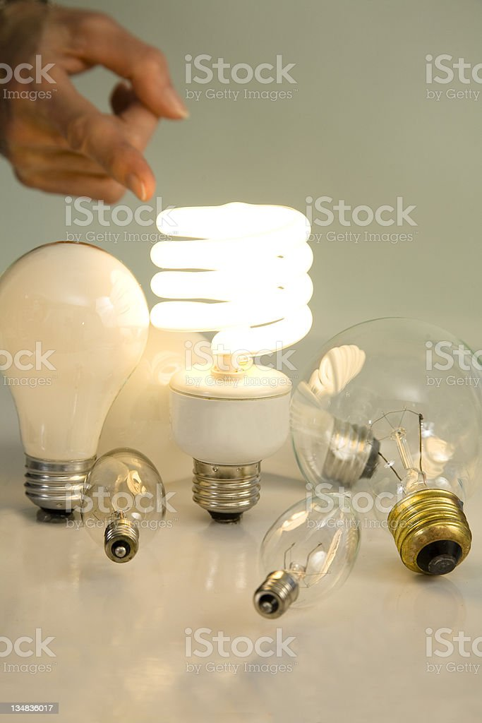 Light Bulb of the future royalty-free stock photo
