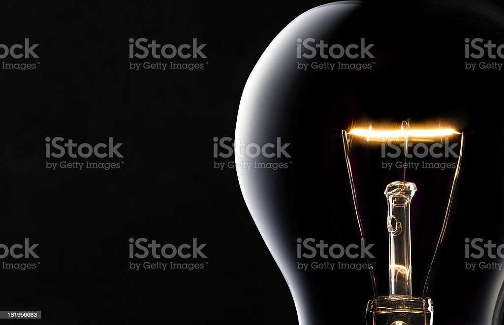 Light Bulb on black. royalty-free stock photo