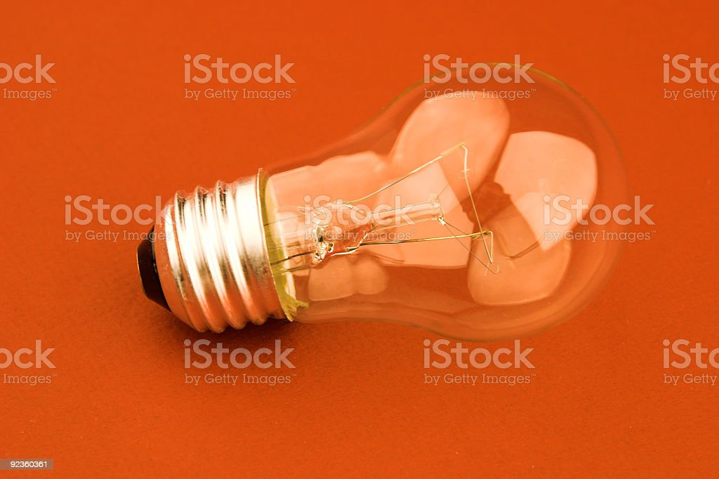 Light Bulb on Red royalty-free stock photo