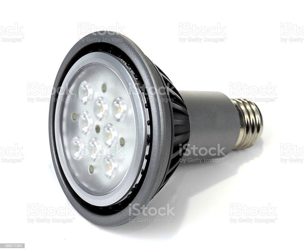 LED light bulb on white background stock photo