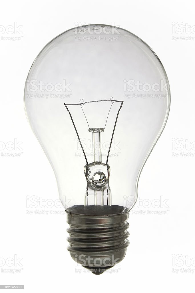 Light bulb on white background. royalty-free stock photo