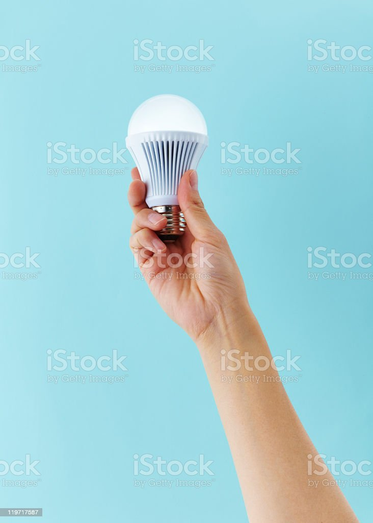 LED light bulb royalty-free stock photo