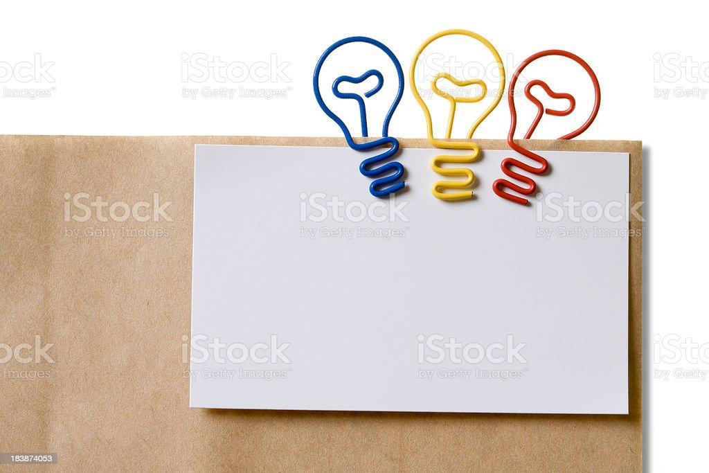 Light Bulb (Paper clip) royalty-free stock photo