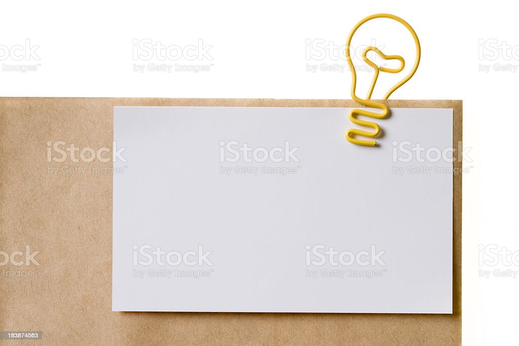 Light Bulb (Paper clip) royalty-free stock photo