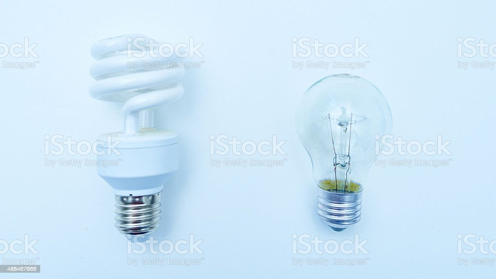 CFL & LED light bulb stock photo