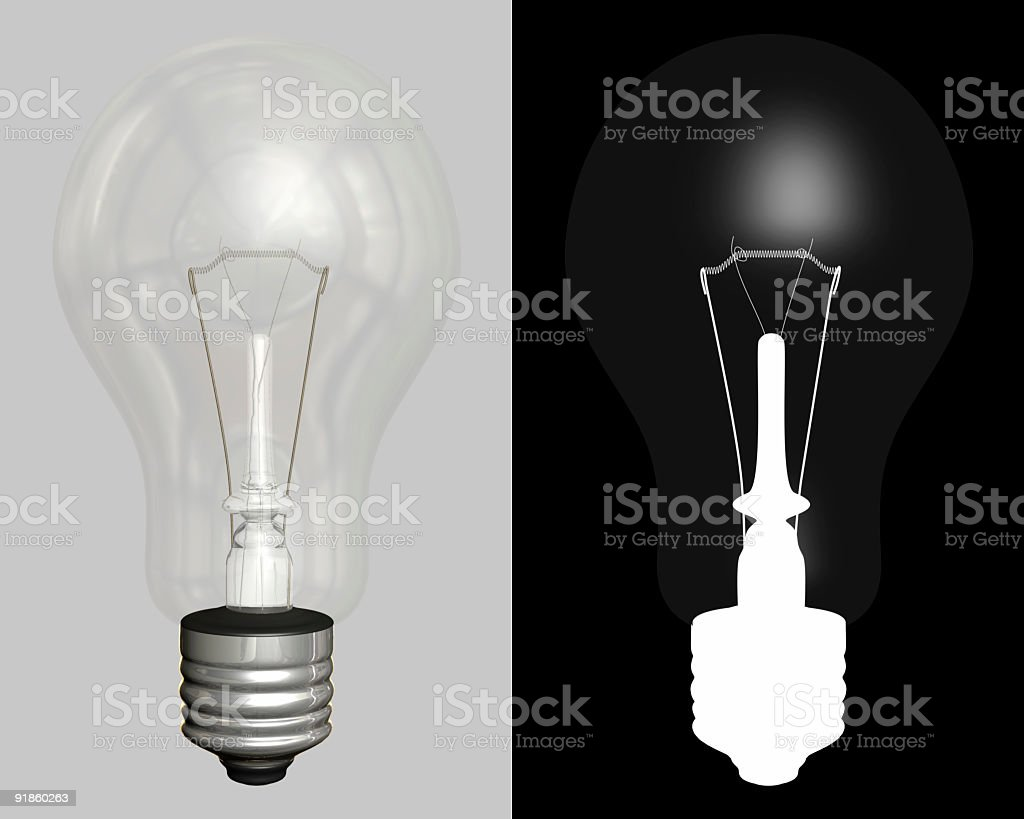 Light Bulb (With Alpha Channel) royalty-free stock photo