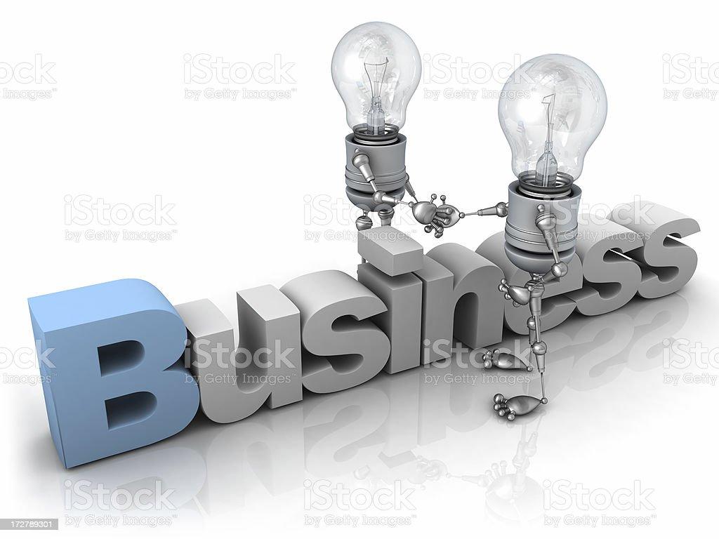 Light Bulb Robot - Business stock photo