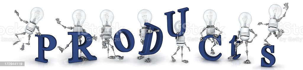 light bulb robot royalty-free stock photo