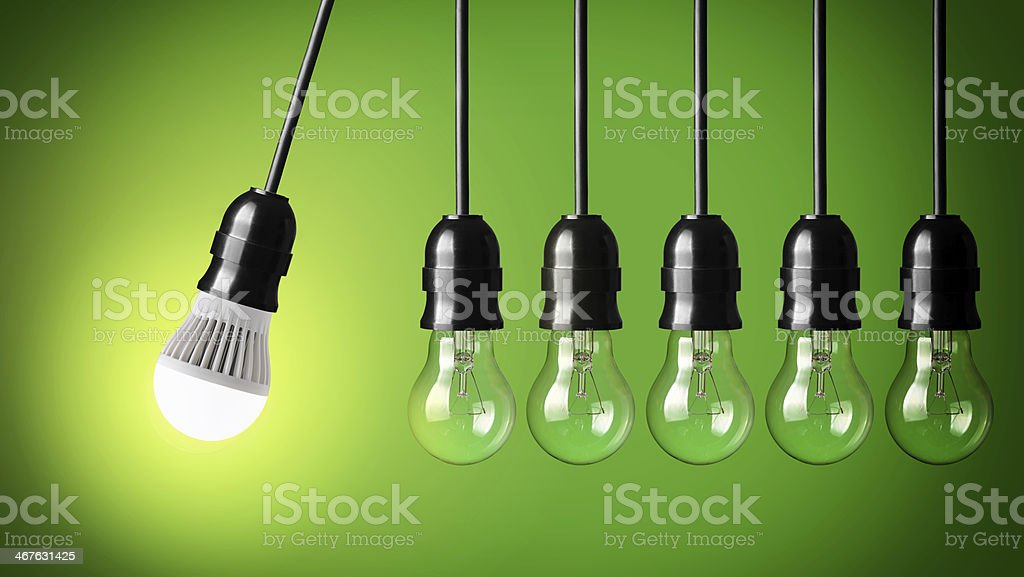 A light bulb to convey an idea stock photo