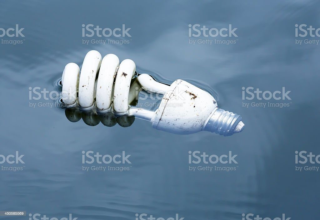 Light bulb toxic waste royalty-free stock photo