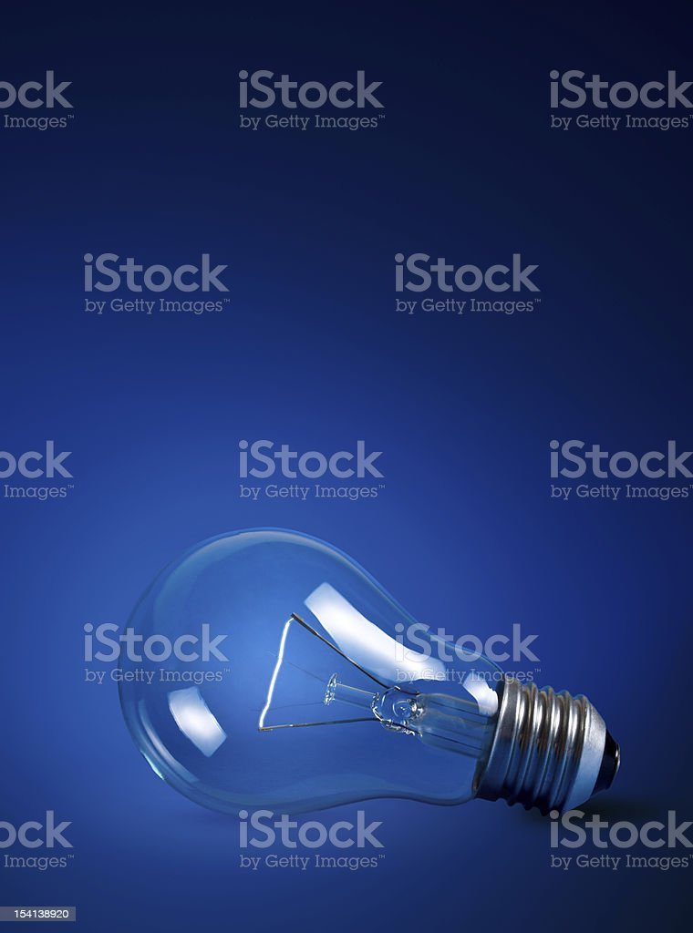 light bulb w clipping path royalty-free stock photo