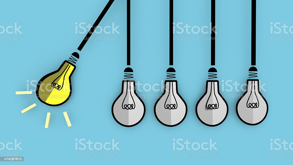 Light bulb will boost extinguished bulbs. stock photo